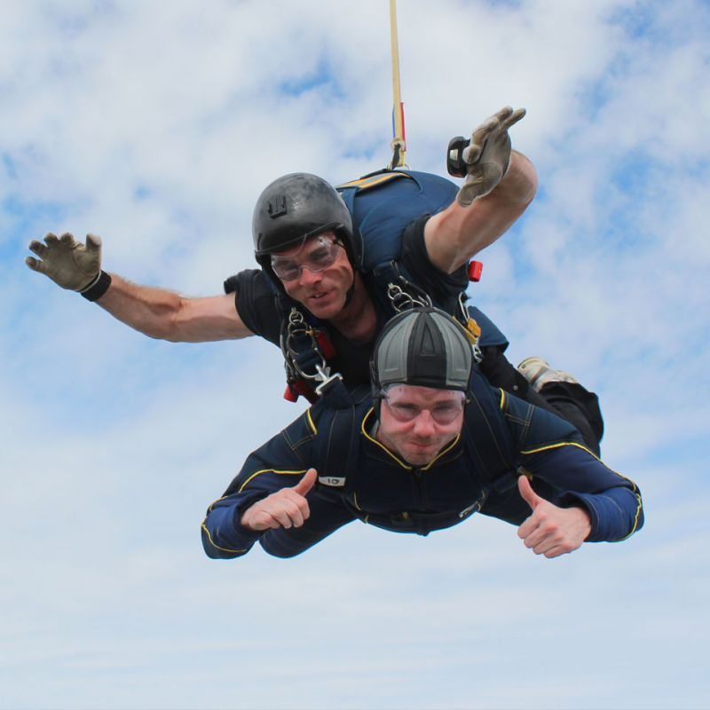 charity skydive for Lakeland's